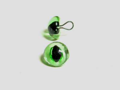 238 green cat eyes round loop