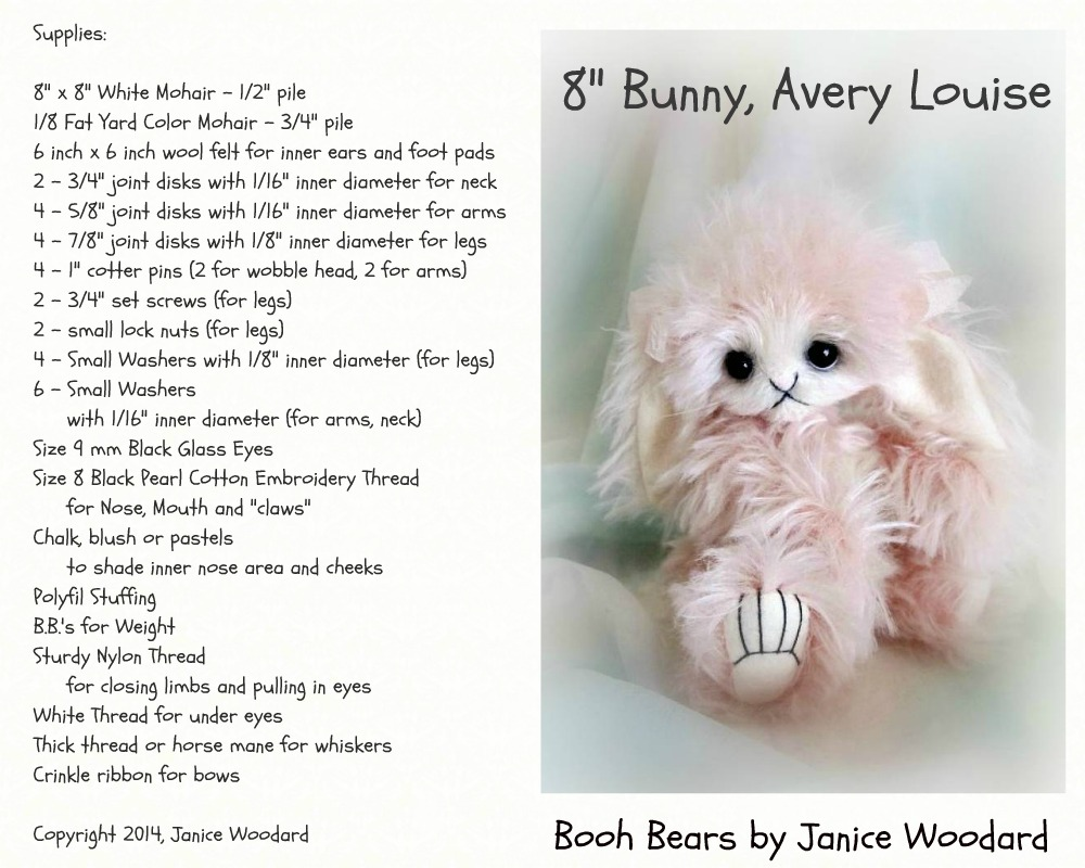 Avery Louise Digital/PDF Bunny pattern by Janice Woodard