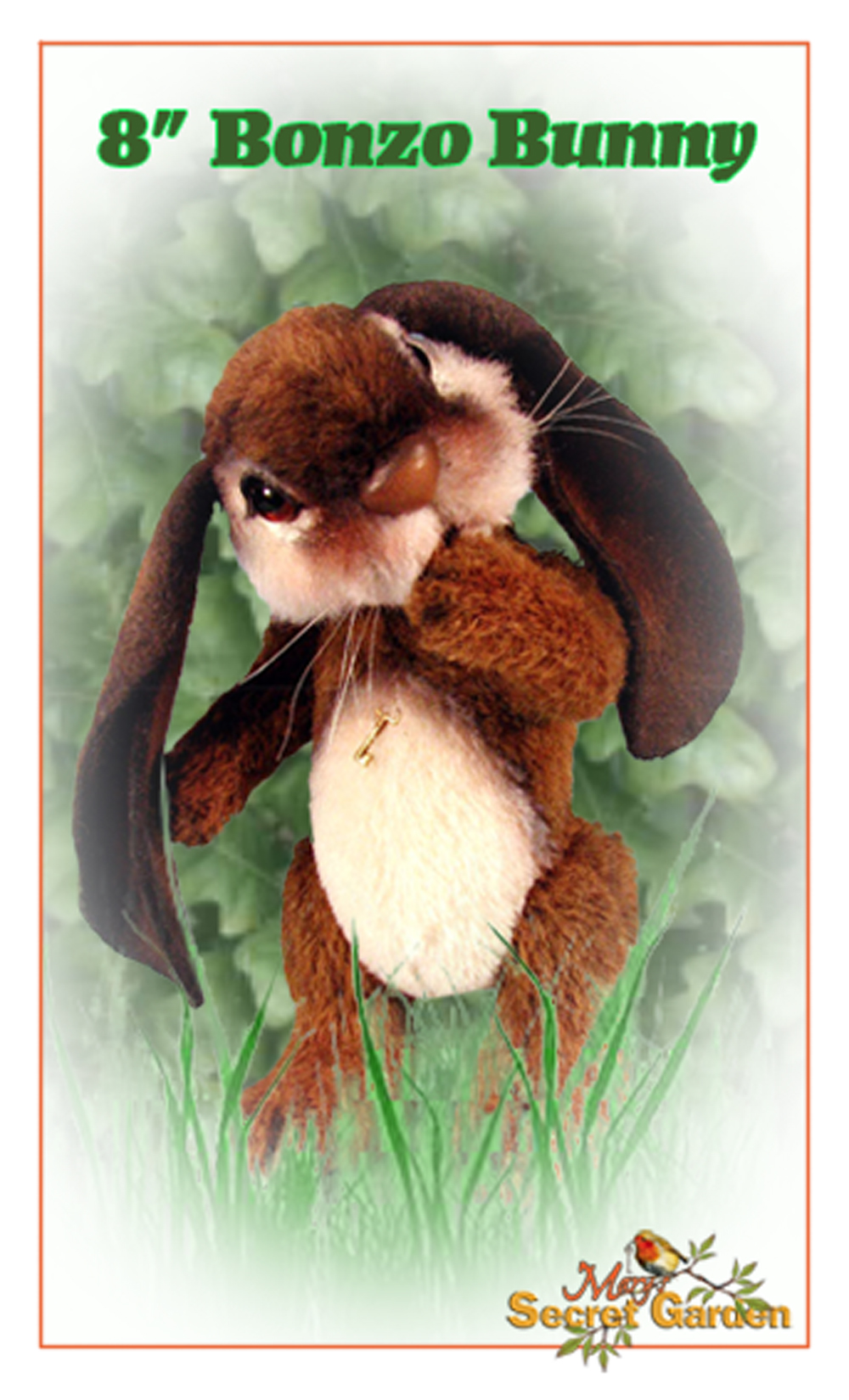 "Bonzo 8"" Bunny - Digital File (PDF) - Click Image to Close"
