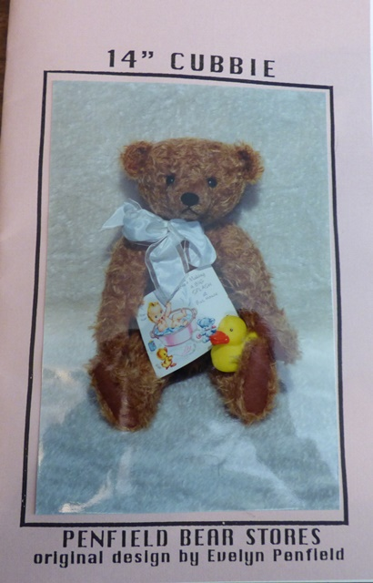 "Cubbie 14"" Bear paper Pattern - Click Image to Close"