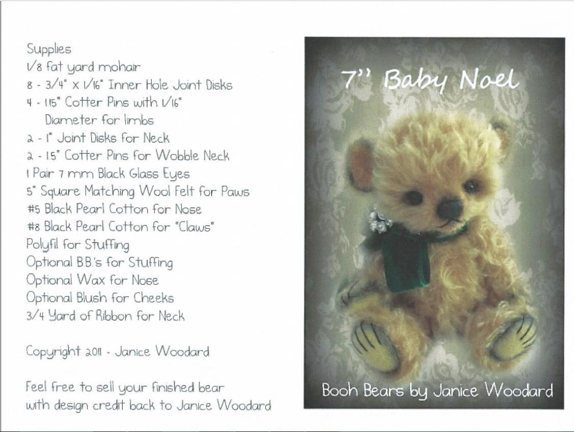 Baby Noel pattern by Janice Woodard