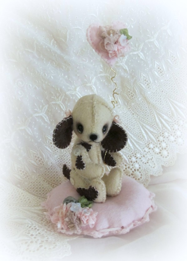 CoCo Felt Puppy / KIT - Click Image to Close