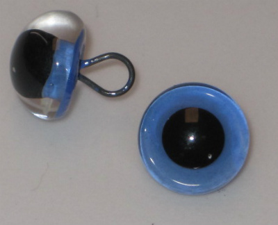 205-3 blue Enamel round loop