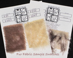 Fur Fabric Sample Swatches