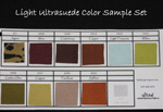 Light Ultrasuede Color Sample Set