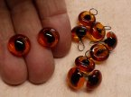 922-15 Amber transparent cat eyes 10mm