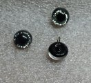 933-101 Black with silver glitter 6mm